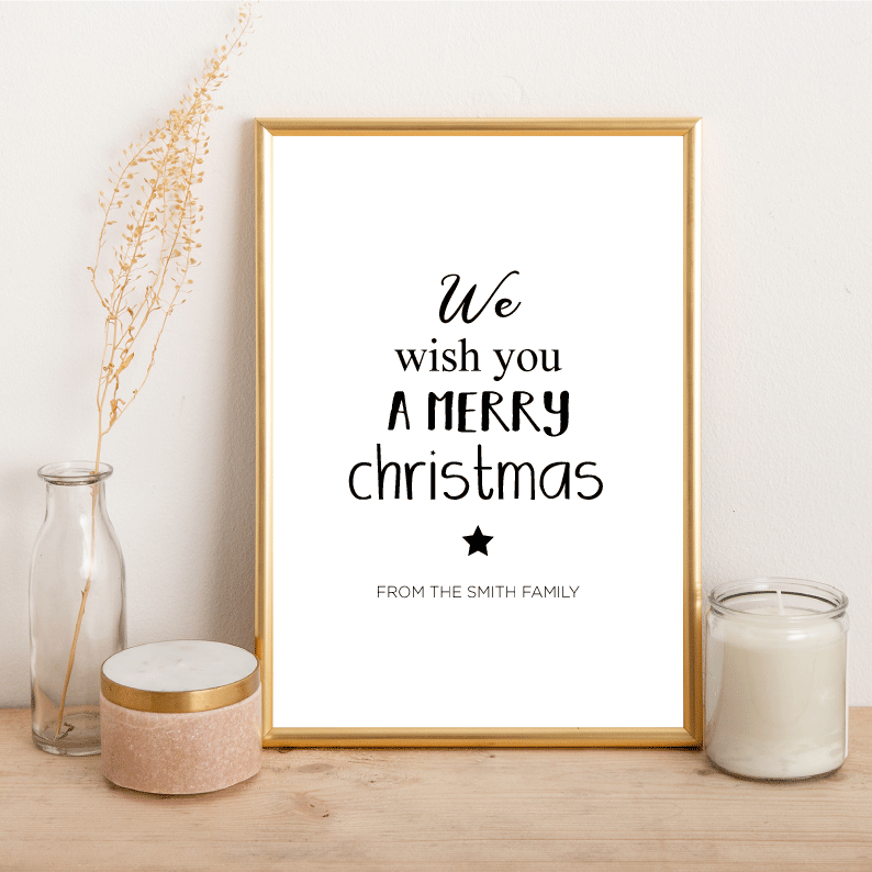 Personalised we wish you a Merry Christmas - Alotta Style - Interior Prints and Posters
