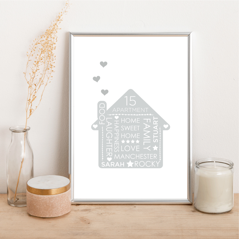 Personalised Family Home - Alotta Style - Interior Prints and Posters