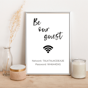 Be Our Guest WiFi - Alotta Style - Interior Prints and Posters