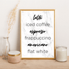 Coffee types - Alotta Style - Interior Prints and Posters