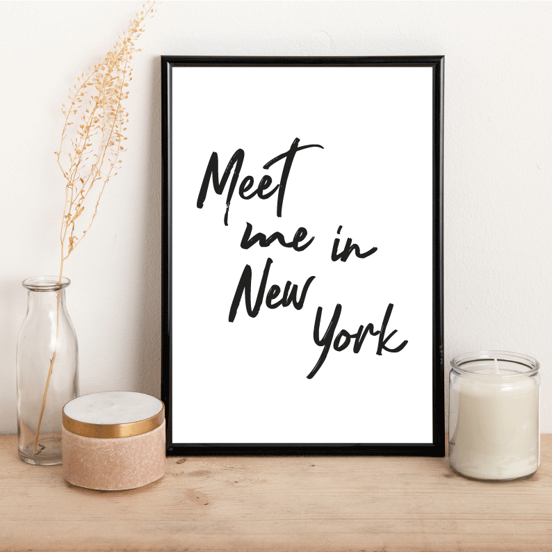 Personalised Meet me in... - Alotta Style - Interior Prints and Posters