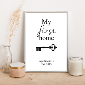 Personalised First Home - Alotta Style - Interior Prints and Posters