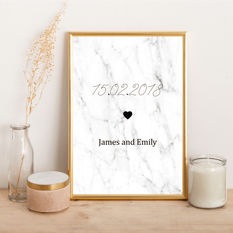 Personalised Special Date - Alotta Style - Interior Prints and Posters