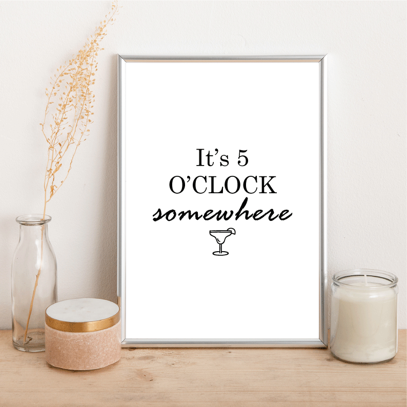 It's 5 o'clock somewhere - Alotta Style - Interior Prints and Posters
