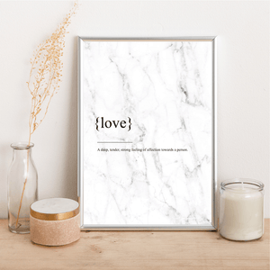 Love Definition - Alotta Style - Interior Prints and Posters