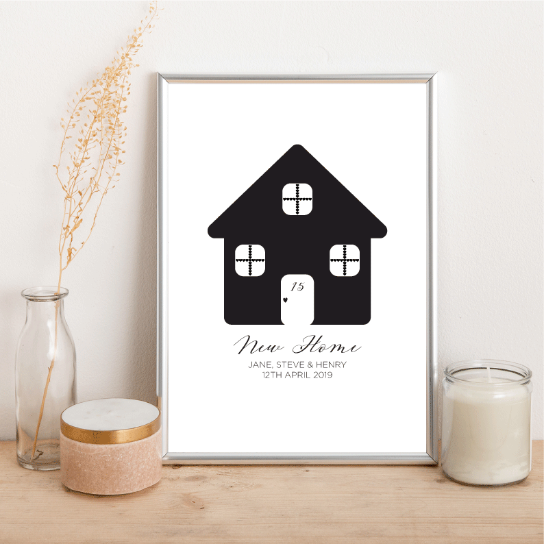 Personalised New Home - Alotta Style - Interior Prints and Posters