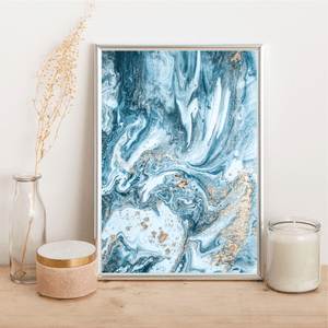 Blue and gold - Alotta Style - Interior Prints and Posters