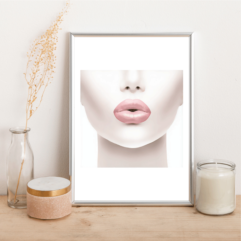 Pink Lips - Alotta Style - Interior Prints and Posters
