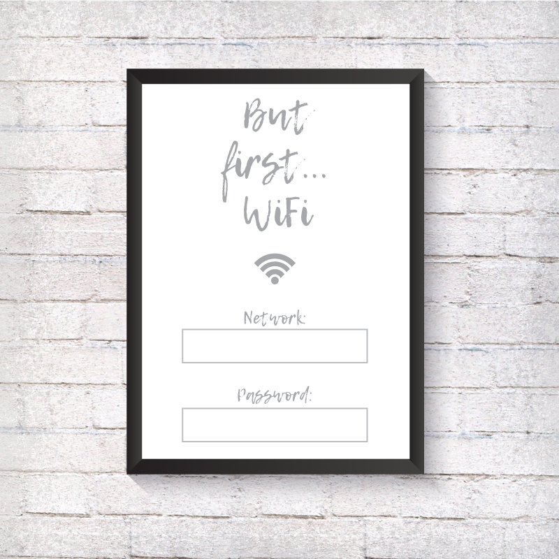 But first...Wifi - Alotta Style - Interior Prints and Posters