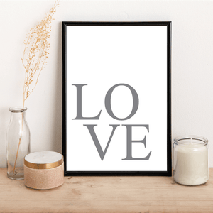 Grey LOVE - Alotta Style - Interior Prints and Posters