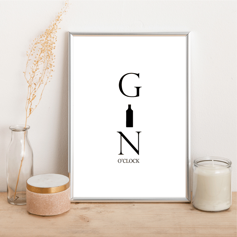 Gin O'Clock - Alotta Style - Interior Prints and Posters