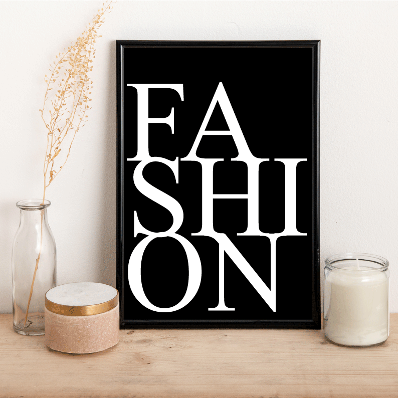 Fashion - Black Background - Alotta Style - Interior Prints and Posters