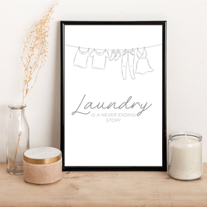 Laundry is a never ending task - Alotta Style - Interior Prints and Posters