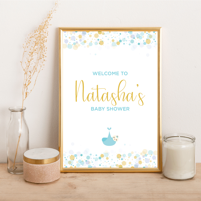 Baby Shower Welcome - Alotta Style - Interior Prints and Posters