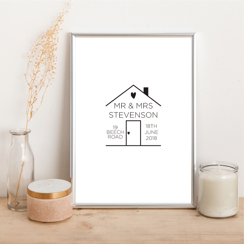 Personalised House Outline - Alotta Style - Interior Prints and Posters