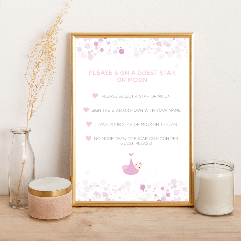 Baby Shower Star or Moon - Alotta Style - Interior Prints and Posters