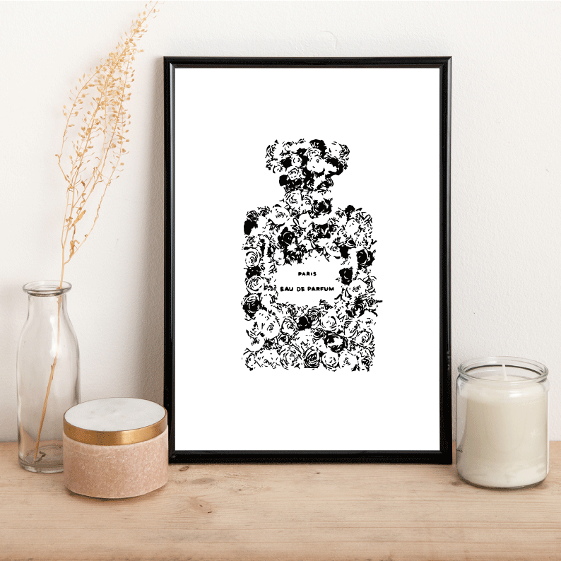 Flower Perfume Bottle - Alotta Style - Interior Prints and Posters
