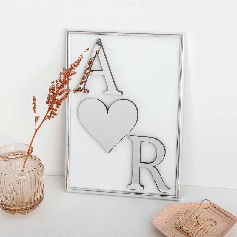 Personalised Mirror Initial Frame