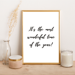 It's the most wonderful time of the year - Alotta Style - Interior Prints and Posters