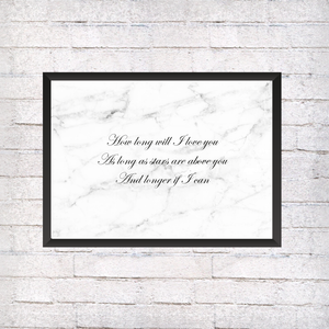 How long will I love you? - Alotta Style - Interior Prints and Posters