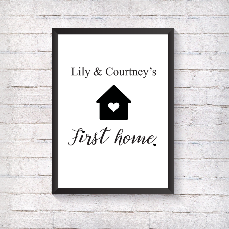 First Home - Heart House - Alotta Style - Interior Prints and Posters
