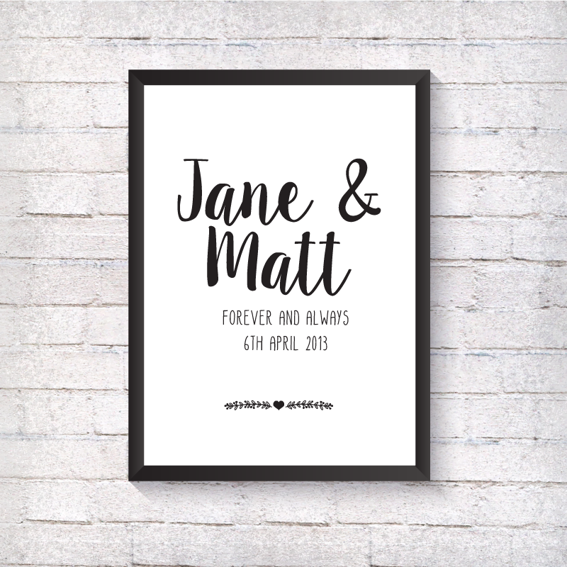 Couple - Forever & Always - Alotta Style - Interior Prints and Posters