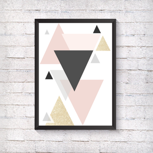 Geometric Sparkle - Triangles - Alotta Style - Interior Prints and Posters