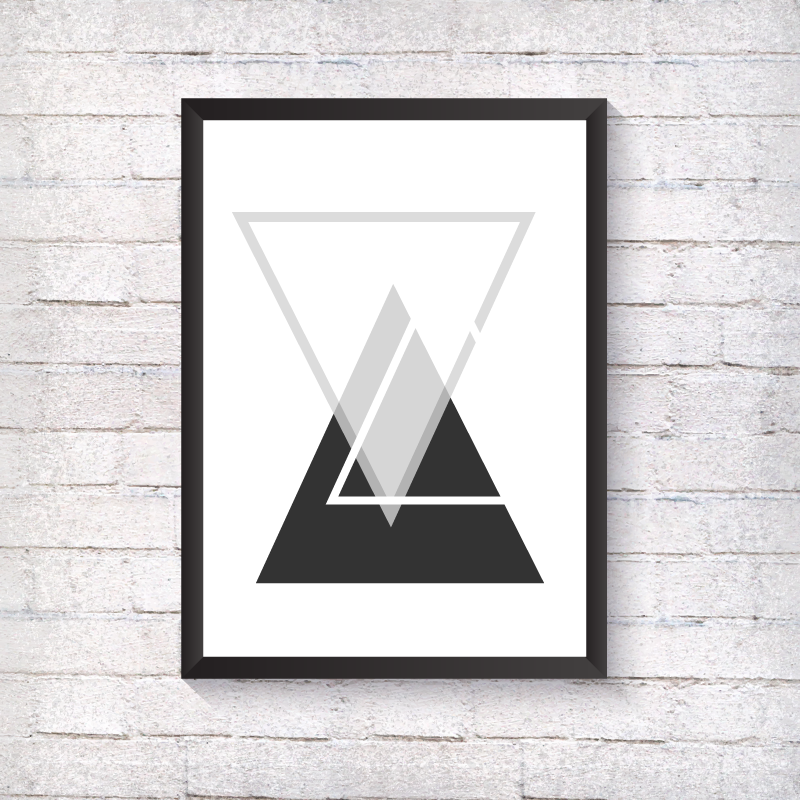 GEO Triple Triangle - Alotta Style - Interior Prints and Posters