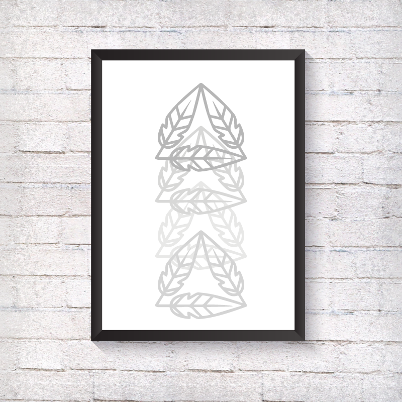 GEO Feather Triangle - Alotta Style - Interior Prints and Posters