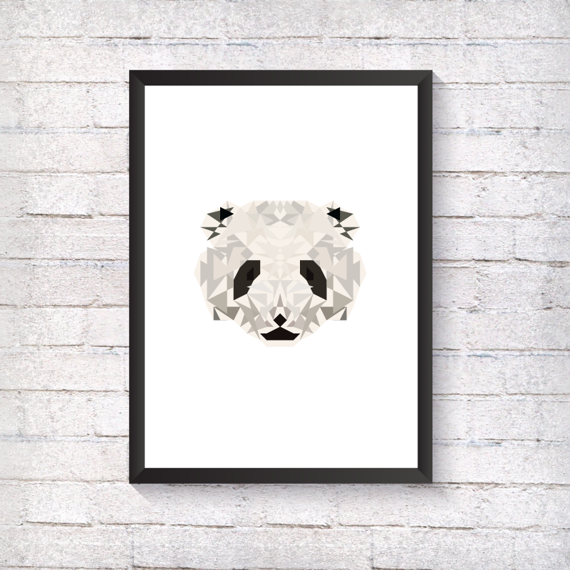 Geometric Panda - Alotta Style - Interior Prints and Posters