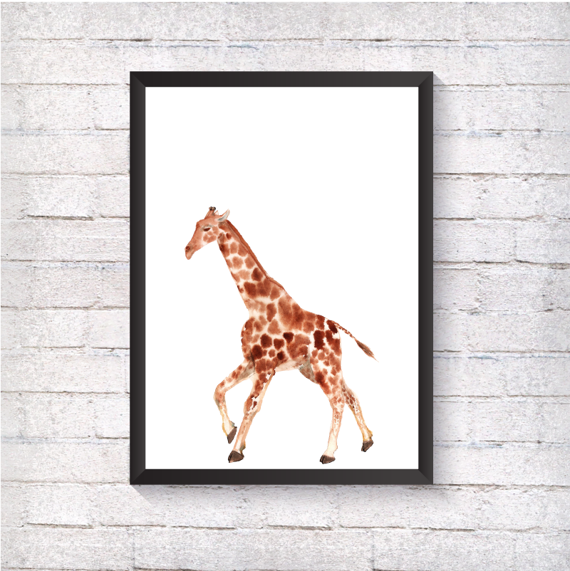 Watercolour Giraffe - Alotta Style - Interior Prints and Posters