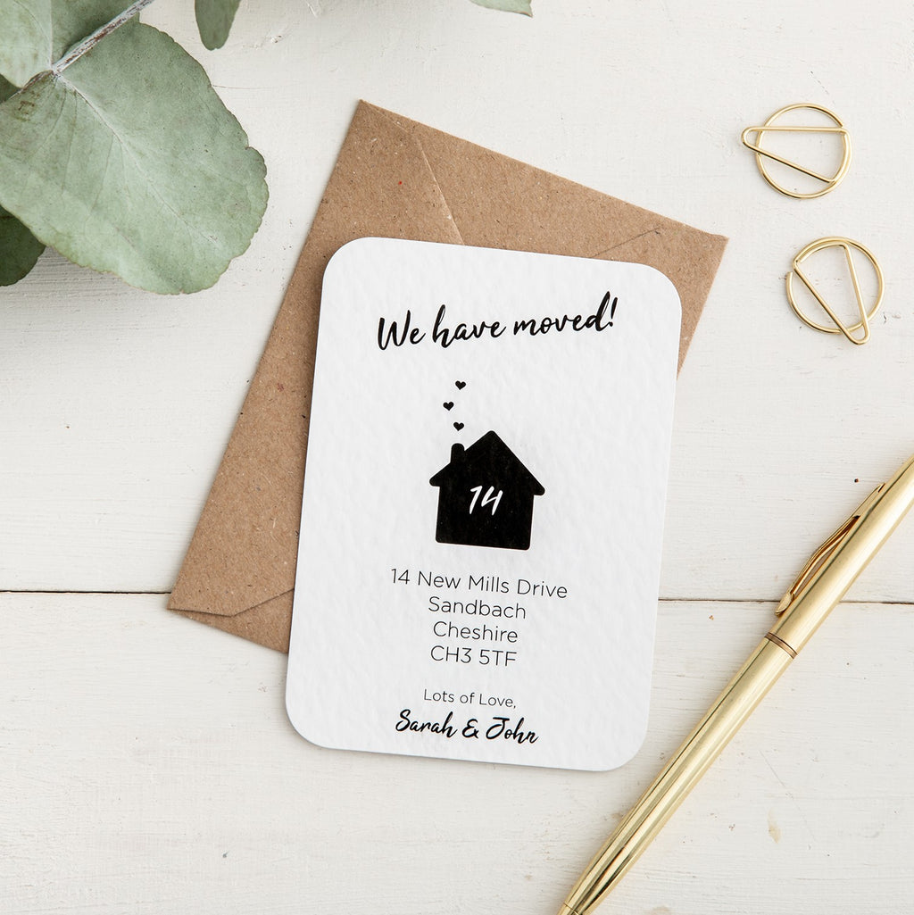 Heart House New Address Card - Alotta Style - Interior Prints and Posters