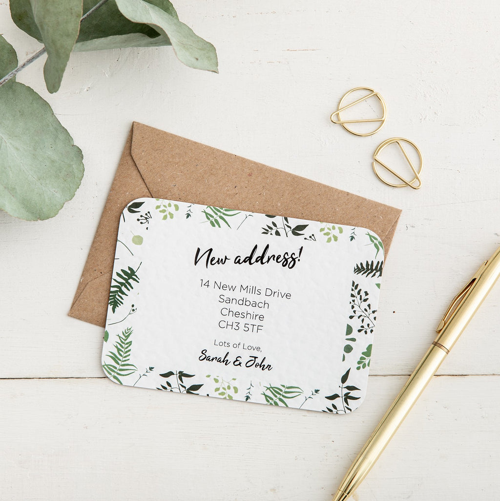 Eucalyptus New Address Card - Alotta Style - Interior Prints and Posters