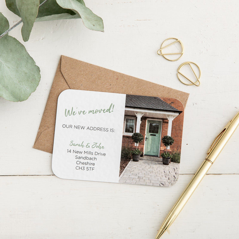 Personalised Front Door New Address Card - Alotta Style - Interior Prints and Posters