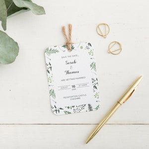 Eucalyptus Save the Date - Alotta Style - Interior Prints and Posters