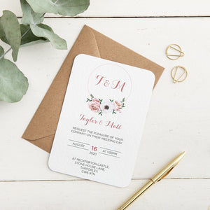 Floral Hoop Wedding Invitation Set - Alotta Style - Interior Prints and Posters