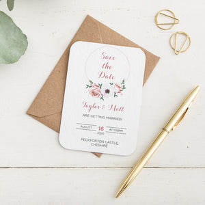 Floral Hoop Save the Date - Alotta Style - Interior Prints and Posters