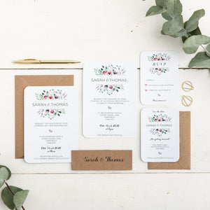 Watercolour Floral Wedding Invitation Set - Alotta Style - Interior Prints and Posters