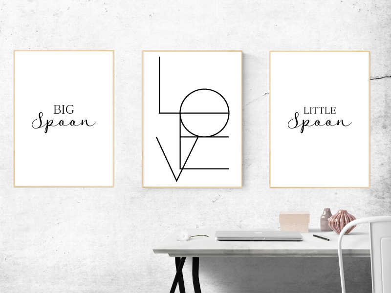Big Spoon, LOVE, Little Spoon - Alotta Style - Interior Prints and Posters