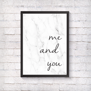 me and you - Alotta Style - Interior Prints and Posters