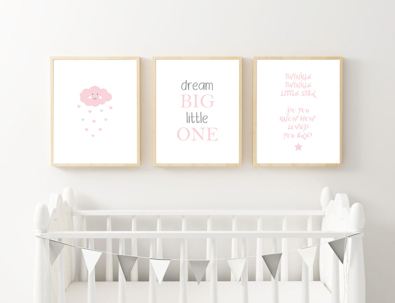 Pink Cloud, Dream and Star - Alotta Style - Interior Prints and Posters