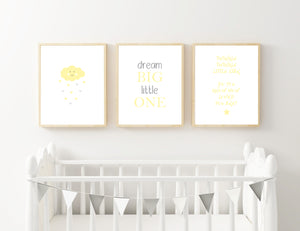 Yellow Cloud, Dream and Star - Alotta Style - Interior Prints and Posters