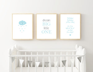 Blue Cloud, Dream and Star - Alotta Style - Interior Prints and Posters