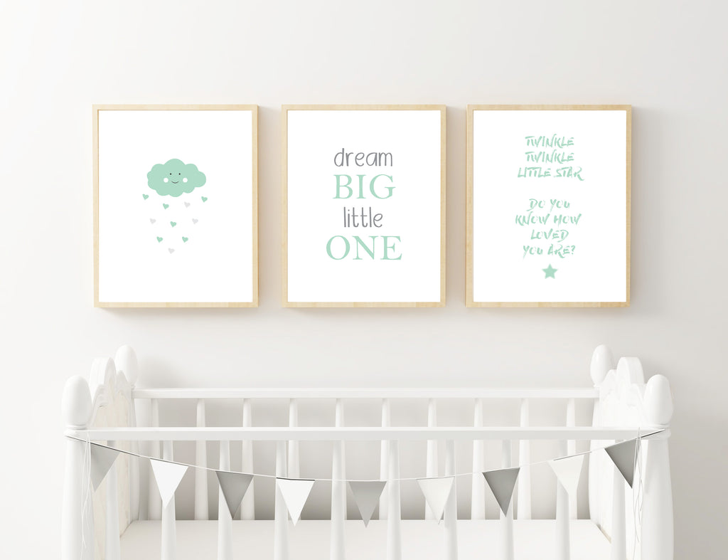 Mint Cloud, Dream and Star - Alotta Style - Interior Prints and Posters