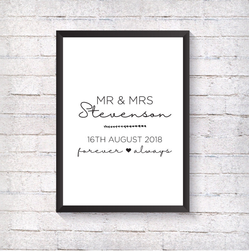 Mr & Mrs - Alotta Style - Interior Prints and Posters