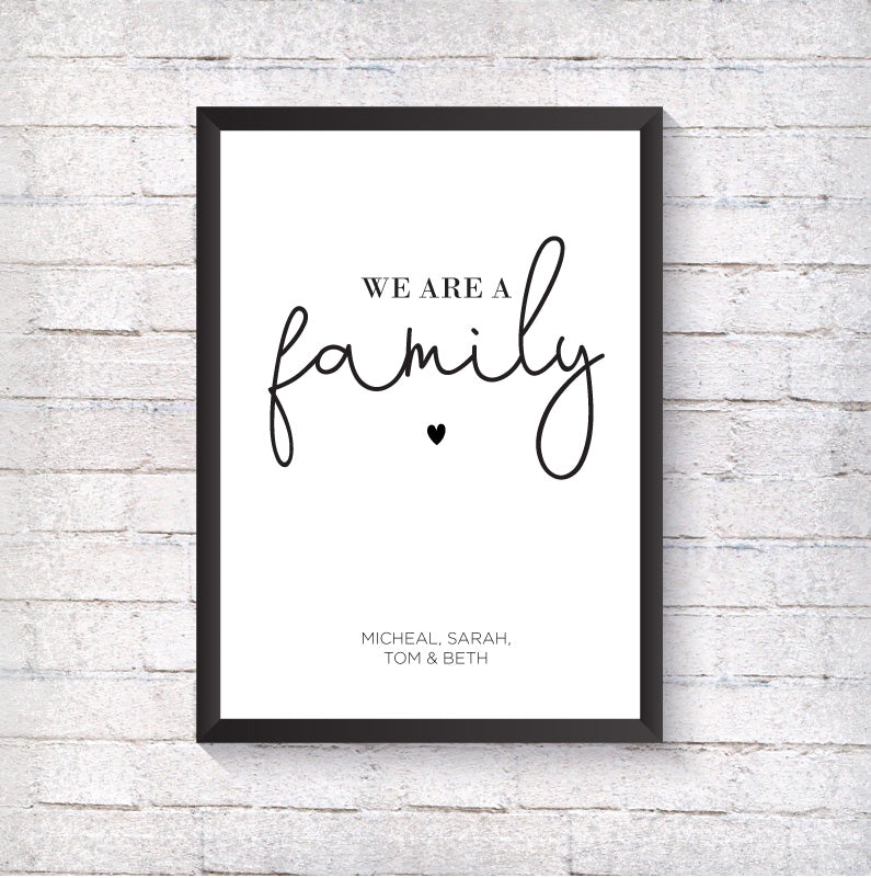 We are a family - Alotta Style - Interior Prints and Posters