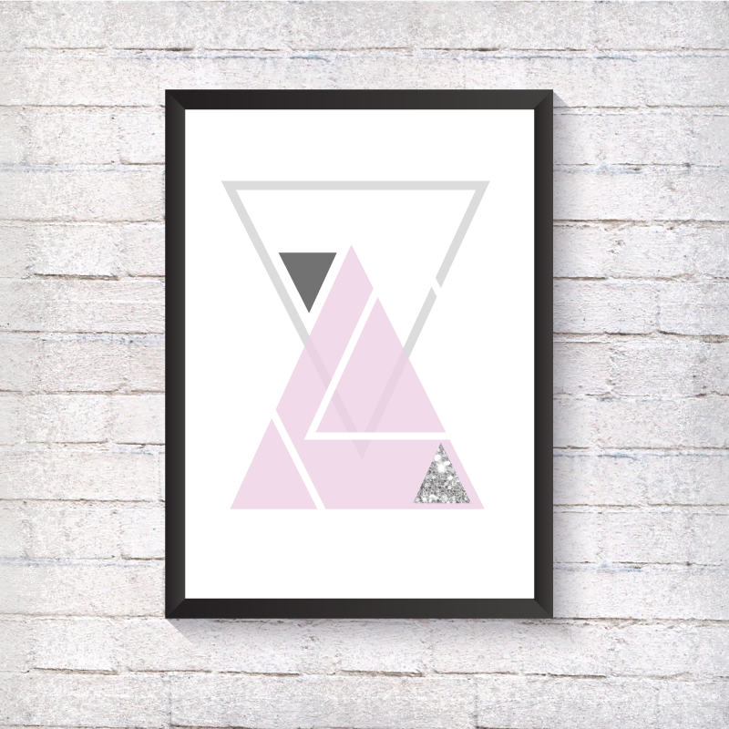 GEO Multiple Triangles - Sparkle - Alotta Style - Interior Prints and Posters