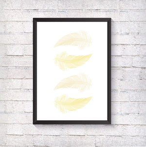 Yellow Feathers - Alotta Style - Interior Prints and Posters