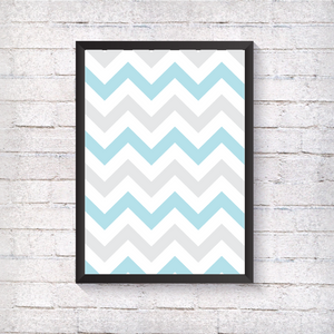 Blue Zig Zag - Alotta Style - Interior Prints and Posters