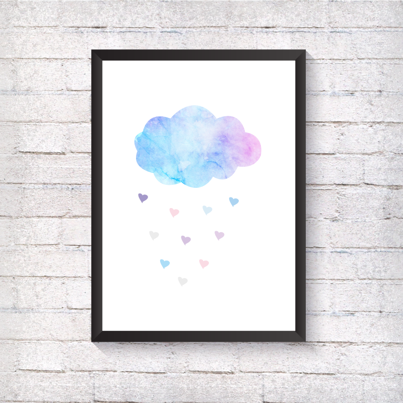 Watercolour Cloud - Alotta Style - Interior Prints and Posters